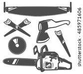 set of tools. | Shutterstock .eps vector #485971606
