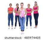 breast cancer awareness health... | Shutterstock . vector #485974405