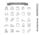 vector stock clothes icons | Shutterstock .eps vector #485982022