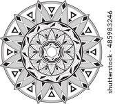 geometric mandala. a circular... | Shutterstock .eps vector #485983246