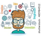 group person idea creative... | Shutterstock .eps vector #485984512