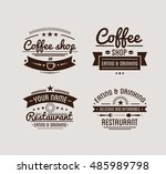 vintage logo. coffee shop... | Shutterstock .eps vector #485989798