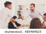 business handshake at office... | Shutterstock . vector #485989825