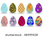 easter eggs design over white... | Shutterstock .eps vector #48599428