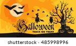 night terrors and nightmares...   Shutterstock .eps vector #485998996
