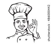 chief cooker. vector cartoon | Shutterstock .eps vector #486000442