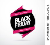black friday sale label | Shutterstock .eps vector #486002476