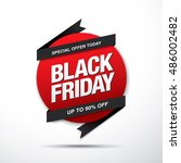 black friday sale label | Shutterstock .eps vector #486002482