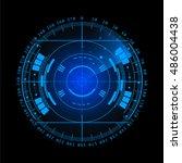 radar screen. illustration for... | Shutterstock . vector #486004438