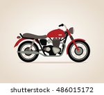 motorbike. vector illustration. | Shutterstock .eps vector #486015172