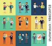 set of business concepts vector ... | Shutterstock .eps vector #486016918