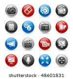 multimedia web icons    gel pro ... | Shutterstock .eps vector #48601831