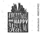 merry christmas and happy new... | Shutterstock .eps vector #486019402