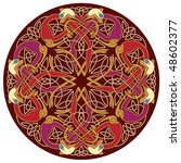 abstract celtic color design... | Shutterstock .eps vector #48602377