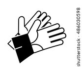 gloves icon illustration... | Shutterstock .eps vector #486030598