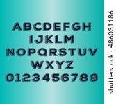 vector alphabet with numbers | Shutterstock .eps vector #486031186