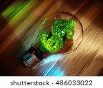 green business concept. 3d...   Shutterstock . vector #486033022