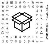 open box icon illustration... | Shutterstock .eps vector #486034312