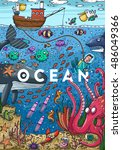 detailed colorful illustration. ... | Shutterstock .eps vector #486049366