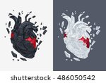 stylized illustration of heart... | Shutterstock .eps vector #486050542