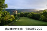 the ruin of the rocher castle ... | Shutterstock . vector #486051202