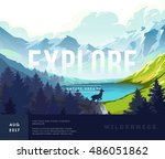 nature landscape background... | Shutterstock .eps vector #486051862