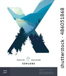 poster layout template with... | Shutterstock .eps vector #486051868