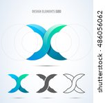 abstract vector letter x logo... | Shutterstock .eps vector #486056062