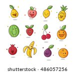 crazy fruits illustration | Shutterstock .eps vector #486057256