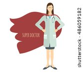 super doctor. professional in... | Shutterstock .eps vector #486059182