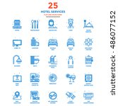 set of modern flat line icon... | Shutterstock .eps vector #486077152
