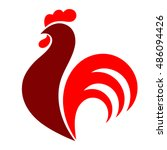 rooster. cock. abstract rooster ... | Shutterstock .eps vector #486094426
