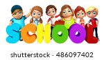 3d rendered illustration of kid ... | Shutterstock . vector #486097402