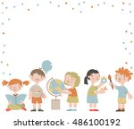 vector template for advertising ... | Shutterstock .eps vector #486100192