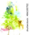 watercolor painting  watercolor ... | Shutterstock . vector #486100702