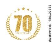 template logo 70 years... | Shutterstock .eps vector #486101986