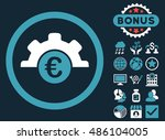 euro technology icon with bonus ... | Shutterstock .eps vector #486104005