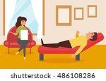 psychologist's office.... | Shutterstock .eps vector #486108286