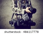 Child Boy Photographer With...