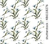seamless floral pattern ... | Shutterstock . vector #486118276