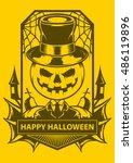 happy halloween | Shutterstock .eps vector #486119896