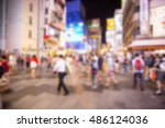 blurred image of people | Shutterstock . vector #486124036
