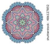 flower mandala. vintage... | Shutterstock .eps vector #486127852