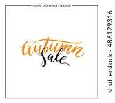 Autumn Sale Vector Lettering ...
