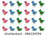 birds  vector pattern | Shutterstock .eps vector #486134596