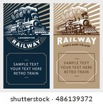 locomotive poster illustration  ... | Shutterstock .eps vector #486139372