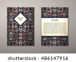 flyer template with abstract... | Shutterstock .eps vector #486147916
