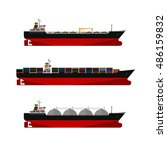 vector illustration. cargo... | Shutterstock .eps vector #486159832
