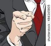 vector pointing finger hand...   Shutterstock .eps vector #486165805
