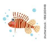 Lionfish Side View Animal...